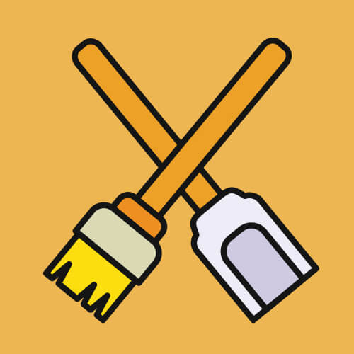 Simple-Graphic-Of-Cleaning-Tools