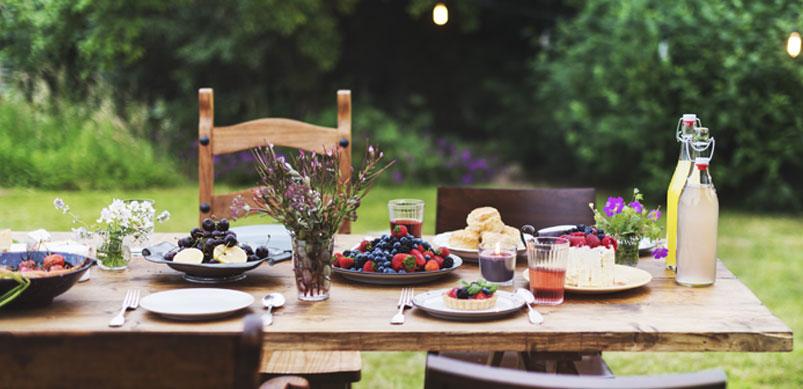 cibo in giardino