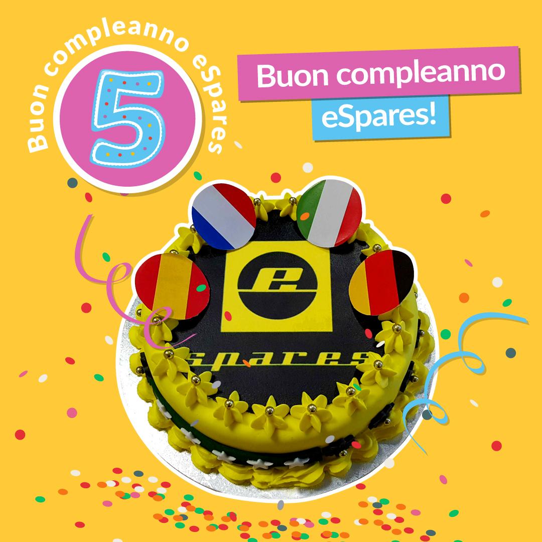 Buon 5° compleanno eSpares!